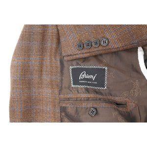 Brioni men's 48R millenio wool sport coat plaid